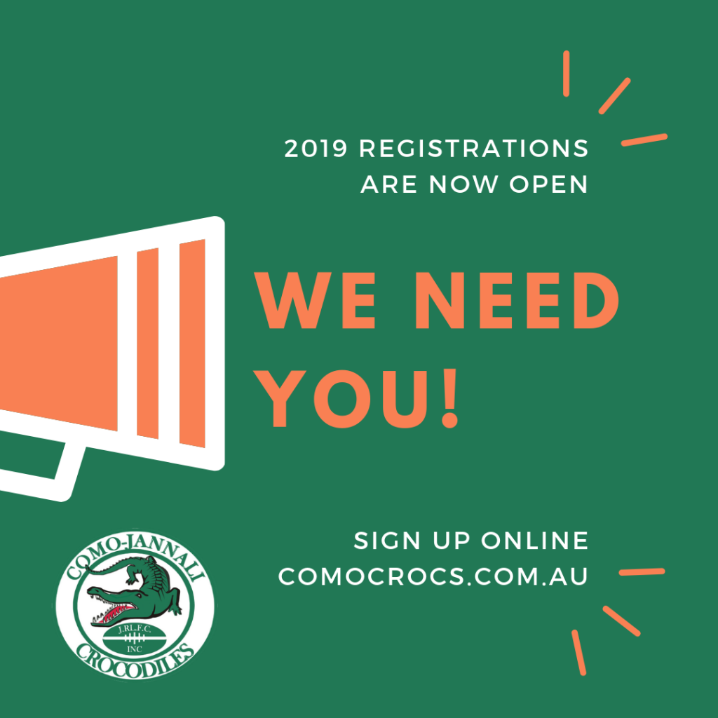 2019 registrations are now open