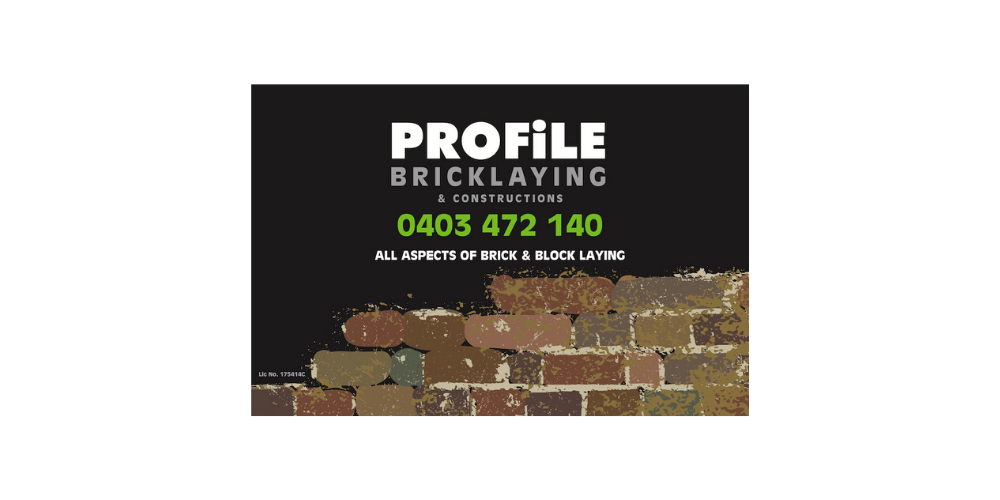 Profile Bricklaying Sponsors